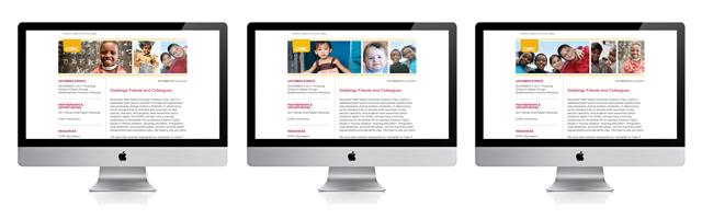 Center for the Human Rights of Children | enewsletter design