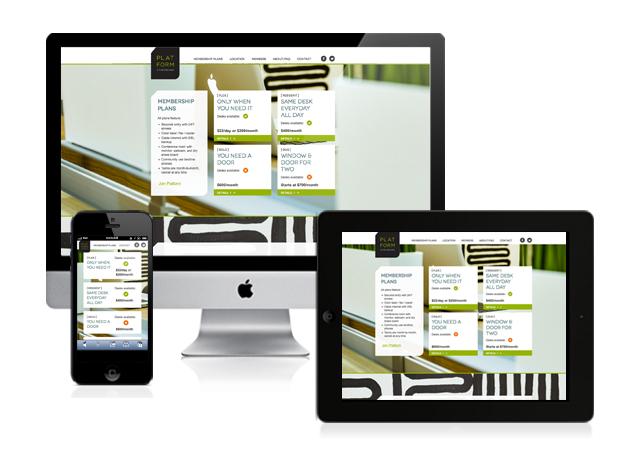 Platform Coworking Responsive Website Design